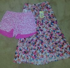 Bardot Pink Floral Skirt, Size 6 and Supre Pink Floral Shorts, Size XXS