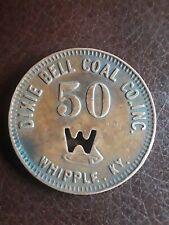 Coal Scrip Token Dixie Bell Coal Co. Inc. Bell Co. Whipple Ky. 50 Cent R-8