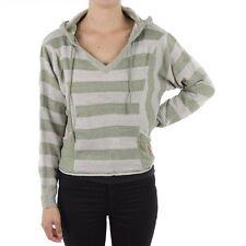 Billabong Women's Shiver Knit Sweater - Gray/Green sz 12