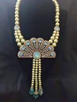 """Heidi Daus """"Fan Fatale"""" Crystal Tassel Drop Necklace - Breathtaking!!"""