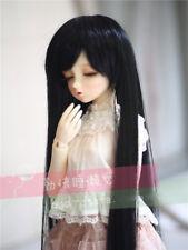 "6-7"" 1/6 BJD Black Long Wig LUTS Doll SD DZ DOD MSD Hair Dollfie Fairyland UL-9#"