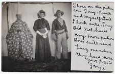 NICE RPPC  Halloween? Circus? Rodeo? Clown Cowboy Sherry WI 1908 Real Photo