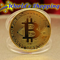 Gold Bitcoin Coin 1 Ounce 99.9% Fine Copper Coin