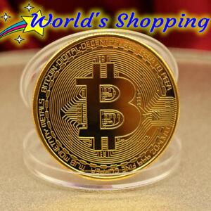 Gold Bitcoin Coin 1 Ounce 99.9% Fine Copper Coin