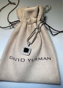 David Yurman Sterling Silver Petite Albion Diamond Necklace