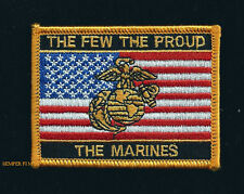 THE FEW THE PROUD THE US MARINES HAT PATCH USMC PIN UP AMERICAN USA FLAG GIFT