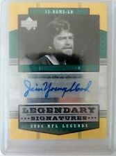2004 Ud firmas legendaria de NFL Jim Youngblood de Los Angeles Rams Auto