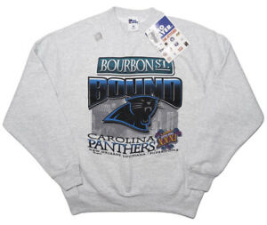 Vintage PRO PLAYER Carolina Panthers 1997 Super Bowl Sweatshirt RARE SAMPLE L