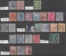 New South Wales used perf types 25 diff stamps wmk 55 cv $93.50