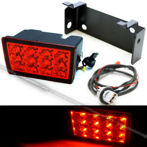 For 11-18 WRX STI F1 Red Lens Red LED Flasher 3rd Brake Light Lamp W/ Harness