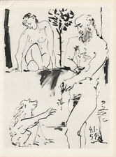 PABLO PICASSO - 4.1.54 - WOMAN EROTIC * HELIOGRAVURE from VERVE 1954 suite