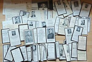 Sterbebild Konvolut Zivil Soldaten - Pfarrer - ca. 100 Stück
