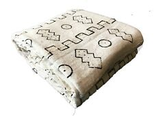 """African Large Black & White Mud Cloth Textile Mali 82"""" by 60"""""""