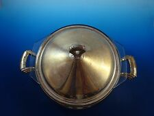 Silverplate Covered Vegetable Dish with Pyrex Glass Bowl