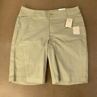 St. Johns Bay Womens Size 16W Khaki Bermuda Shorts NWT