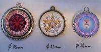 TALISMAN PENTACLE bijoux médaillon attire argent, amour, santé...plusieurs choix