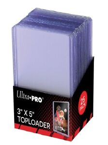 """(25-Pack) Ultra Pro 3x5 3"""" x 5"""" Tall Card Toploader Topload Holder Gameday"""