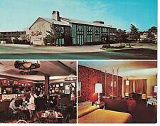 Postcard OH Stouffer's Somerset Motor Inn Hotel Interior Room Large Chrome