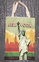 New York Cotton Tote Bag manhattan skyline Statue of Liberty shoulder shopping