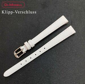 10 MM Genuine Leather Watch Strap Di-Modell White Klipp-Verschluss Pin Buckle
