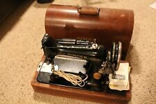 Vintage Singer Portable Electric Sewing Machine 99-13 with Knee Control -Works