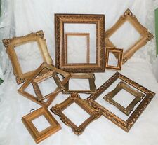 12 Open Gold Tone Decorative Picture Frames Various Materials 7 Sizes