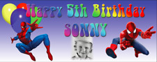 Personalised Birthday Party Banner Decorations Spiderman