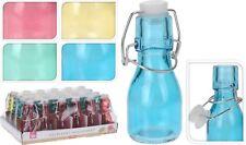 Job Lot 103 Mini Coloured Glass Bottle Swing Clip Top Seal Oil Sauces Spice 75ml