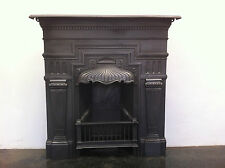 Original Restored Antique Victorian Cast Iron Bedroom Fireplace Medium (EM056)