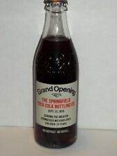 10 OZ COCA COLA COMMEMORATIVE BOTTLE - 1976 SPRINGFIELD CCBC GRAND OPENING