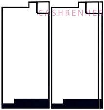 3x Deckel Kleber Akkudeckel Adhesive Sticker Frame Sony Xperia XA1