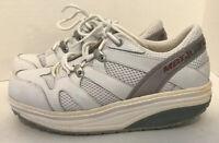 MBT Women's Sport White Leather Walking Shoe Toning Sneaker Women's Sz 7 - EUC