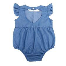 Newborn Infant Baby Girl Bodysuit Summer Romper Jumpsuit Outfit Playsuit Clothes 6-12m