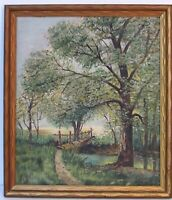 LISTED EDITH EMERSON 1888-1981 PENNSYLVANIA, OHIO  LANDSCAPE  OIL PAINTING