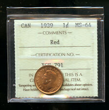 1939 - RED - Canada Penny - Graded - ICCS MS64 DCB247