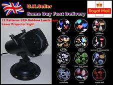 Christmas 12Patterns LED Outdoor Landscape Laser Projector Light UK Plug