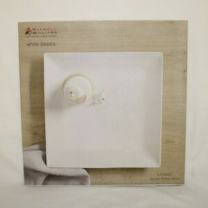 BRAND NEW MAXWELL & WILLIAMS WHITE BASICS LINEAR SQUARE PLATTERS