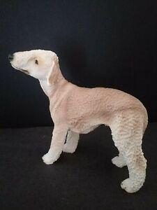 Bedlington Terrier dog ornament model  figure Castagna Italian WITH CERTIFICATE