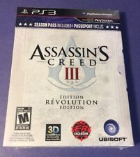 Assassin's Creed III [ Revolution Edition W/ Season Pass ] (PS3) NEW