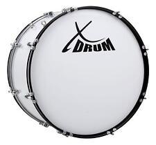 """Marsch Pauke Bass Trommel Marching Drum Große Trommel weiß 24"""" x 12"""" Stadion Fan"""