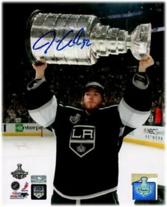 Jonathan Quick Signed Autographed 16x20 Photo LA Kings WIth Stanley Cup Steiner
