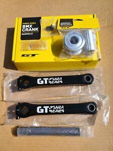 GT Power Series Cranks Black 175mm and *NEEDED* 22mm BB BMX Old School DYNO Bike