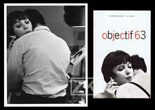LE CHAT DANS LE SAC Vivre sa vie GROULX Godard ULRICH Karina Revue + Photo 1964