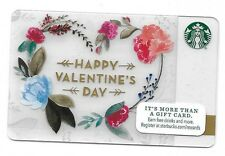 2015 Starbucks Card ~ Happy Valentine's Day ~ Flowers in Heart Shaped Wreath
