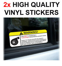 2X BMW STICKERS WARNING TURBO TURBOCHARGER EXCESSIVE BOOST