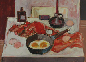 Jean Krille 1923 - 1991 - Still Life With Eggs And Pan