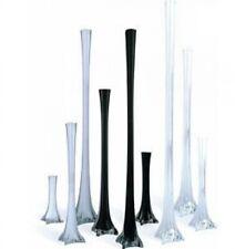 12pc Wedding Eiffel Tower vase Centerpiece Decorations Clear White Black-6 Size
