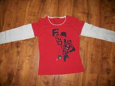 Shirt Langarm Pullover Sweatshirt PJE Gr.146 rot