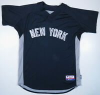 New York Yankees BP Majestic Authentic Cool Base MLB Baseball Blue #86 Jersey 48