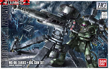 MS-06 Zaku 2 II + Big Gun Set Gundam Thunderbolt HG 1/144 Model Bandai